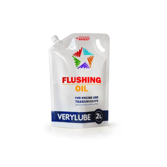 Flushing oil for engines and transmissions
